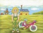 6 illustrations originales aux pastels secs